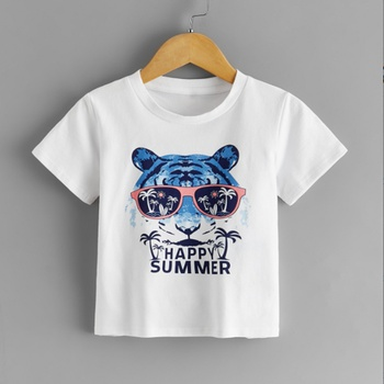 Baby / Toddler Tiger Animal Letter Tee