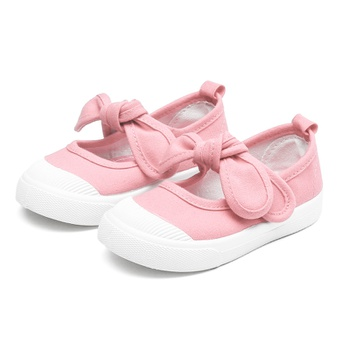 Baby / Toddler Solid Bowknot First Walkers Shoes