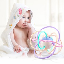 Safe Soft Baby Infant Teething Toys Hand Bell Early Educational Rattle Teether Baby Toys
