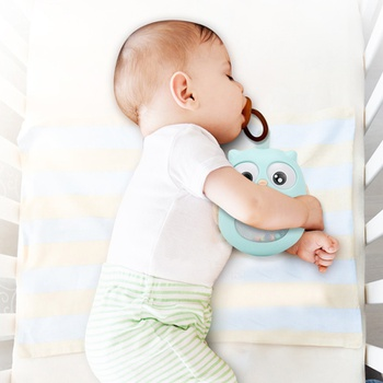 Owl Tumbler Roll Around Baby Rattle Toy Easy to grab Baby Toy