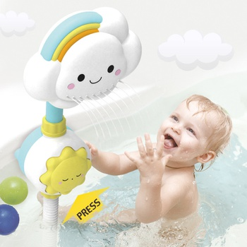 Bath Toys Baby Water Game Cloud Model Faucet Shower Water Spray Toy Swimming Water Toys Toddler Kids Gift
