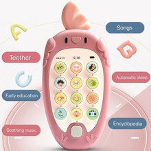 Cartoon Phone Kid Cellphone Telephone Educational Learning Toys Music Baby Infant Teether Phone Baby Gift Bilingual teaching Toy