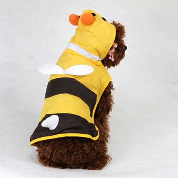 Cute Bee Raincoat for Your Dog
