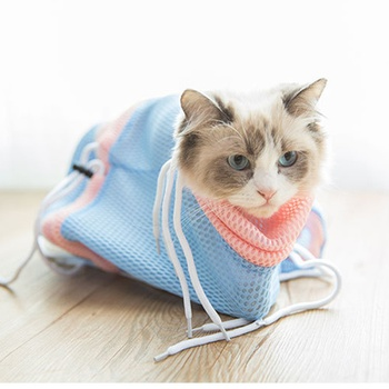 Multifunctional Anti-Scratch Bag for Cat Bathing Bag Fixed Bag