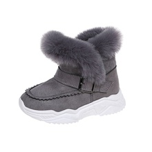 Toddler / Kid Solid Velcro Closure Fleece-lining Snow Boots