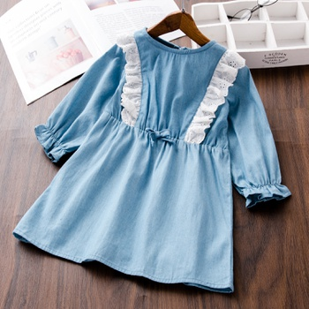 Baby / Toddler Lace Ruffled Long-sleeve Dress