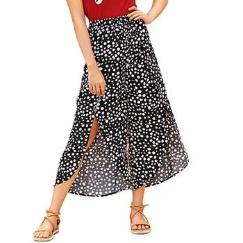 Casual Polka dot Print Relaxed fit Wide trousers pants