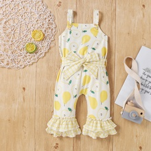 1 pcs Baby Girl Pear Short-sleeve Jumpsuits