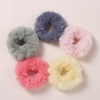 5-pack Solid Fleece Hairbands for Girls