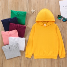 Fashionable Kid Unisex Basic Hooded Sweatshirt