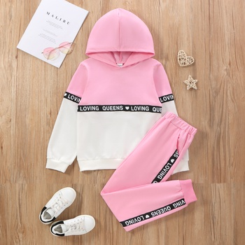Kid Girl Hoodie and Pants Set