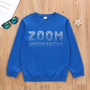 Kid Boy Letter Print Sweatshirt