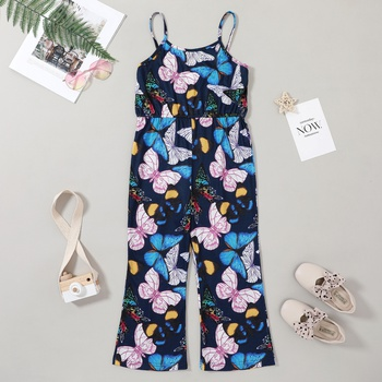 1pc Kid Girl Sling Animal & Insect Butterfly Rompers