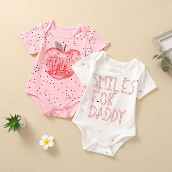 1pc baby girl Short-sleeve Cotton sweet romper