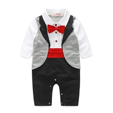 1pc Baby Boy Long-sleeve Cotton Party Costumes & Formal Dresses & Tuxedos