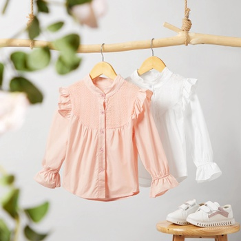 Toddler Girl Ruffled Cutie Solid Shirt