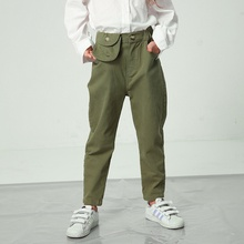 Stylish Pocket Decor Casual Straight Cut Pants