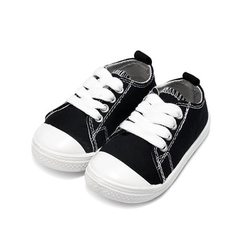 Toddler / kid Solid School Casual Lace-up Canvas Shoes