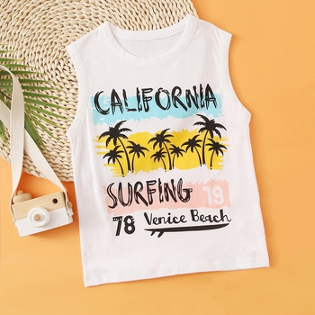 Baby / Toddler Letter Print Chic Vest Tee