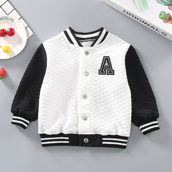 Baby / Toddler Striped Letter Sporty Jacket