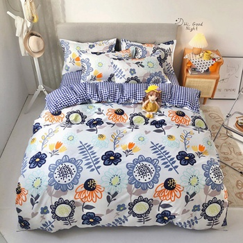 4-PCS Sunflower Baby Girl Cover Set Bedding Sets Comfort Cover Pillow Cases