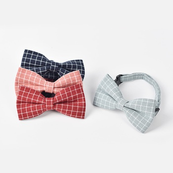 British style pet dog bow tie teddy puppies cat small dog pet accessories