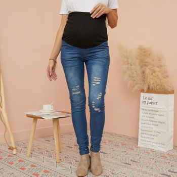Sassy Ripped Maternity Jeans