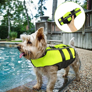 Pet airbag life jacket inflatable inflatable folding dog outdoor convenient safety swimsuit