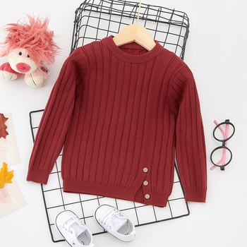Baby / Toddler Causal Solid Long-sleeve Sweater