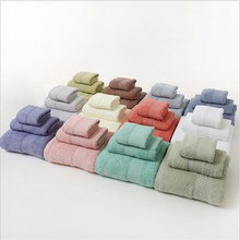 3PCS Set 100% Cotton Solid Bath Towel, Hand Towel, and Washcloth