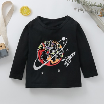 Baby Unisex casual Tee Cotton Fashion Long Sleeve Infant Clothing Outfits