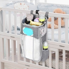 Crib Hanging Storage Bag Baby Essentials Bedding Diaper Storage Organizer