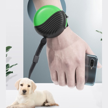 Portable dog walking rope multi-color wrist-type retractable traction rope strap-type retractor