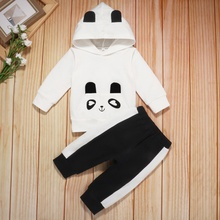 2pcs Baby Unisex casual Animal Baby's Sets Cotton Hoodie Fashion Long-sleeve Infant Clothing Outfits