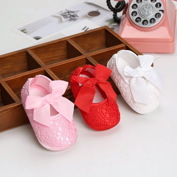 Baby / Toddler Girl Bowknot Embroidery Mesh Prewalker Shoes