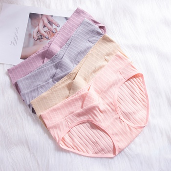 Maternity Stripes Plain Underwear for 4 pieces
