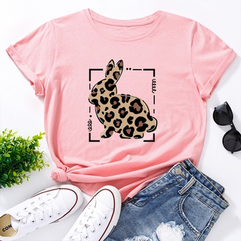 Round collar Litooffset print Short Sleeve casual T-shirt