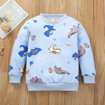 Baby / Toddler Dinosaur Print Long-sleeve Pullover
