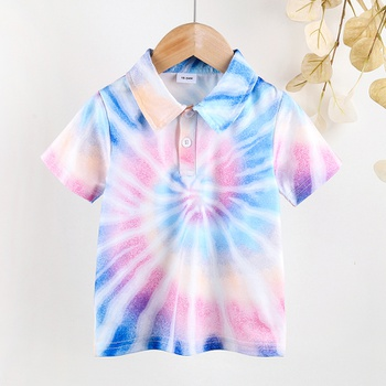 Baby / Toddler Boy Chic Tie dye Polo Tee