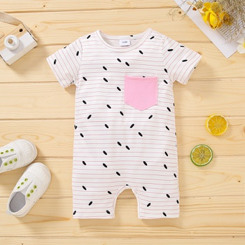 1pc Baby Girl Short-sleeve Sweet Floral Baby's Sets