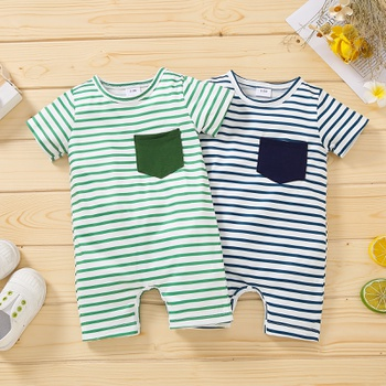1pc Baby Unisex Short-sleeve casual Jumpsuits