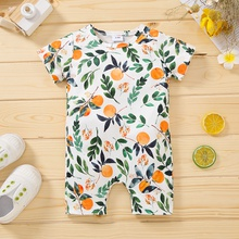 1pc Baby Unisex Short-sleeve casual Fruit Jumpsuit