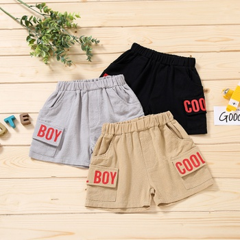 Baby Boy casual Letter Shorts Solid Cotton Baby Clothes