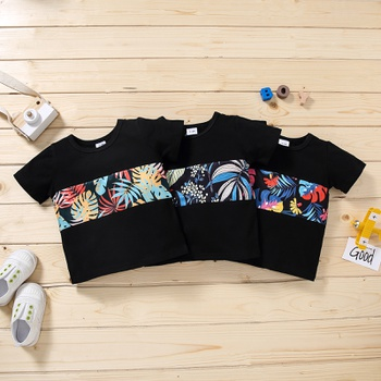 Baby Boy casual Floral Short-sleeve Cotton Tee