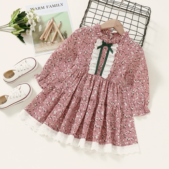 Baby / Toddler Floral Pattern  Long-sleeve Dress