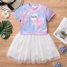 Pretty Kid Girl Tie Dye Tutu dress