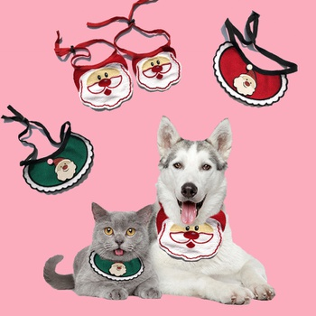 Christmas Ornaments Pet Scarf Triangle Scarf
