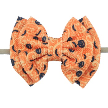 Halloween holiday pet bow tie hair tie