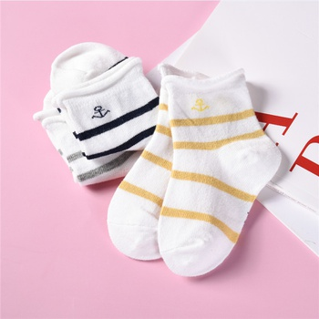 3-pack Baby / Toddler Striped Breathable Socks