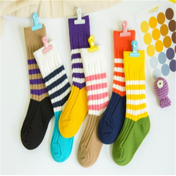 Baby / Toddler / Kid Colorblock Striped Middle Socks